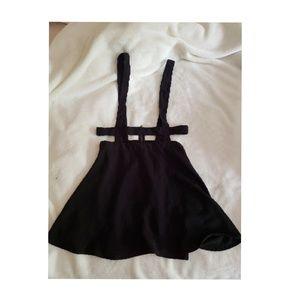 Black Caged Skater Overall Dress